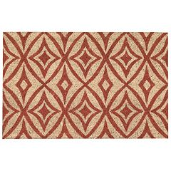 Waverly Greetings Centro Geometric Coir Doormat