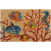 Waverly Greetings Swimming Fish Coir Doormat