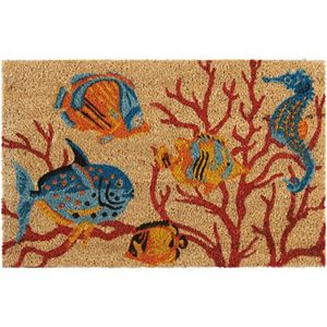 Waverly Greetings Swimming Fish Coir Doormat