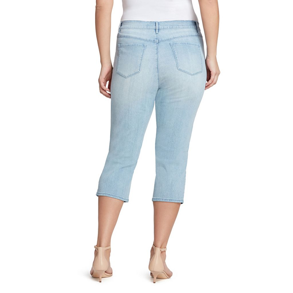Plus Size Gloria Vanderbilt Jordyn Embroidered Capri Jeans