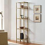 Crosley Furniture Aimee Gold Finish Bookshelf
