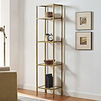 Crosley Furniture Aimee Gold Finish Bookshelf