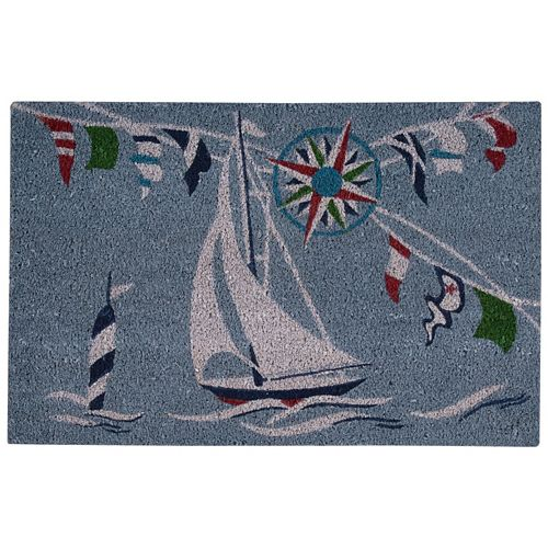Waverly Greetings Sailing Coir Doormat