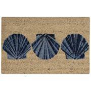 Waverly Greetings Trio Shells Coir Doormat