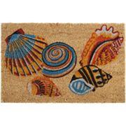 Waverly Greetings Tossed Shells Coir Doormat