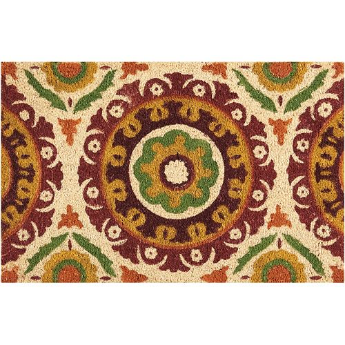 Waverly Greetings Solar Flair Medallion Coir Doormat