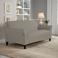 Serta Reversible Stretch Suede Loveseat Slipcover