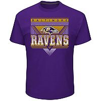 Men's Majestic Baltimore Ravens Keep Score Tee
