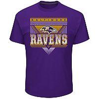 Men's Majestic Baltimore Ravens Keep Score Tee