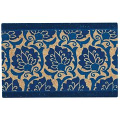 Waverly Greetings Playful Prose Floral Coir Doormat