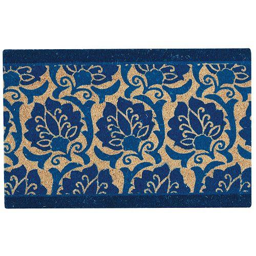 Waverly Greetings Playful Prose Floral Coir Doormat