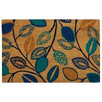 Waverly Greetings Leaflet Floral Coir Doormat