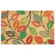 Waverly Greetings Leaflet Floral Coir Doormat