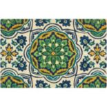 Waverly Greetings Tapestry Medallion Coir Doormat