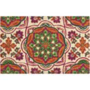 Waverly Greetings Tapestry Medallion Coir Doormat