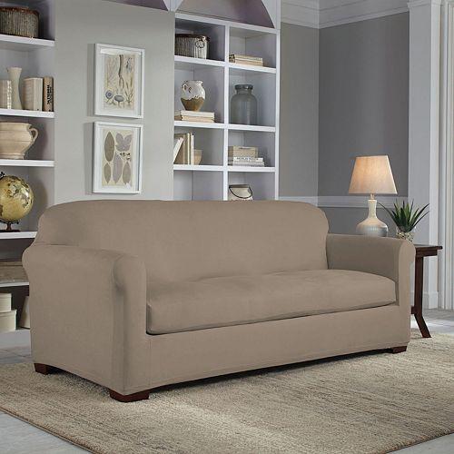 Serta Reversible Stretch Suede Sofa Slipcover