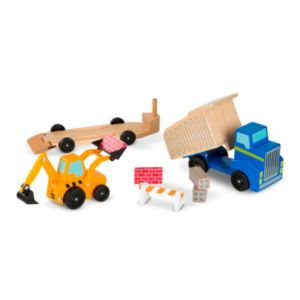 Melissa & Doug Dump Truck & Loader Wooden Play Set