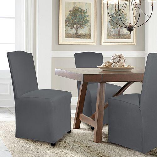 Amazing Serta Reversible Stretch Suede Dining Chair Slipcover Uwap Interior Chair Design Uwaporg
