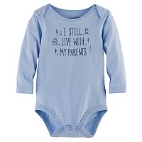 Baby Boy Jumping Beans® Long Sleeve Graphic Bodysuit