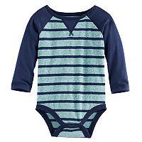 Baby Boy Jumping Beans® Raglan Striped Bodysuit