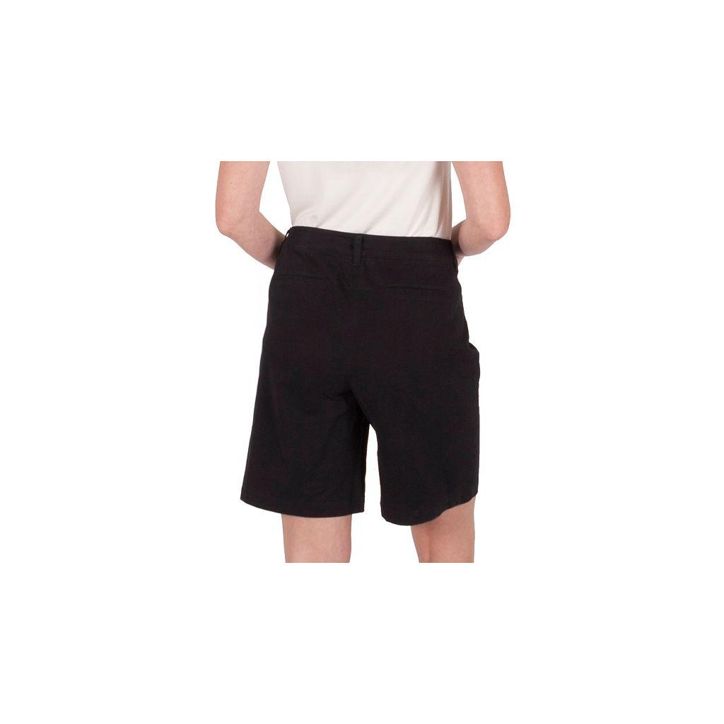 Women's Larry Levine Basic Twill Bermuda Shorts