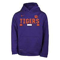 Boys 8-20 Nike Clemson Tigers Therma-FIT Hoodie
