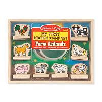 Melissa & Doug My First Wooden Stamp Farm Animals Set