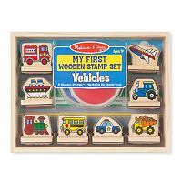 Melissa & Doug My First Wooden Stamp Vehicles Set