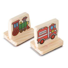 Melissa & Doug My First Wooden Stamp Vehicles Set