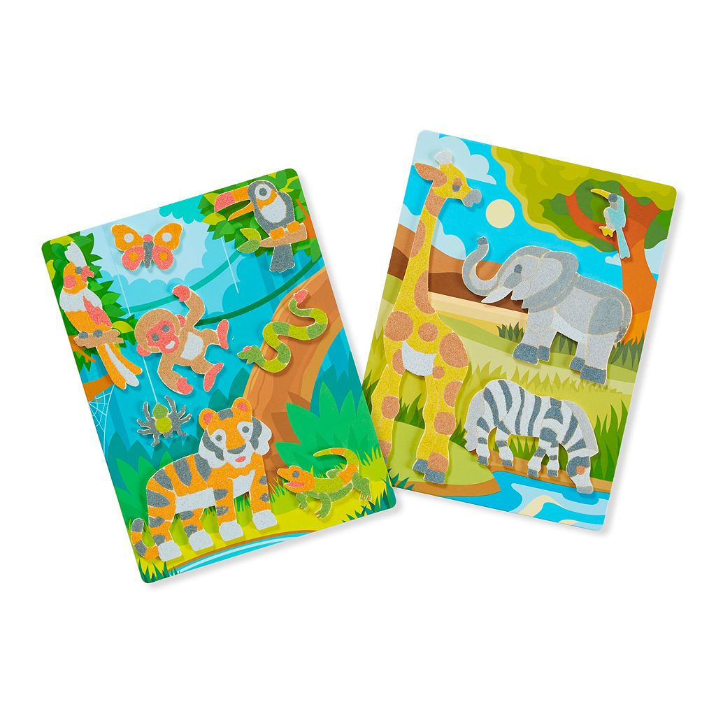 Melissa & Doug Animal-Themed Mess Free Sand Craft Set