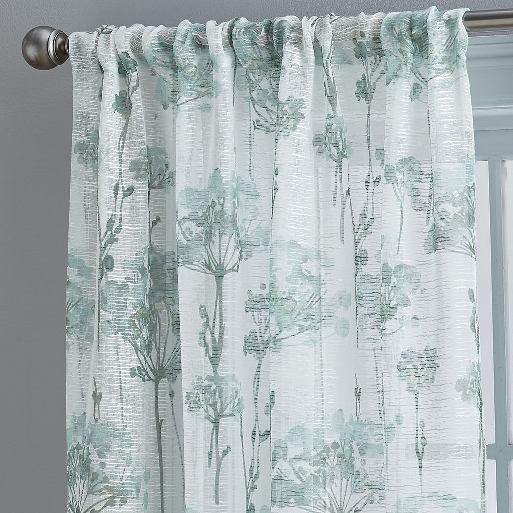 Floral Bella Sheer Textured Curtain
