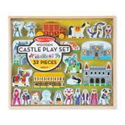 Melissa & Doug 32 pc Wooden Castle Play Set