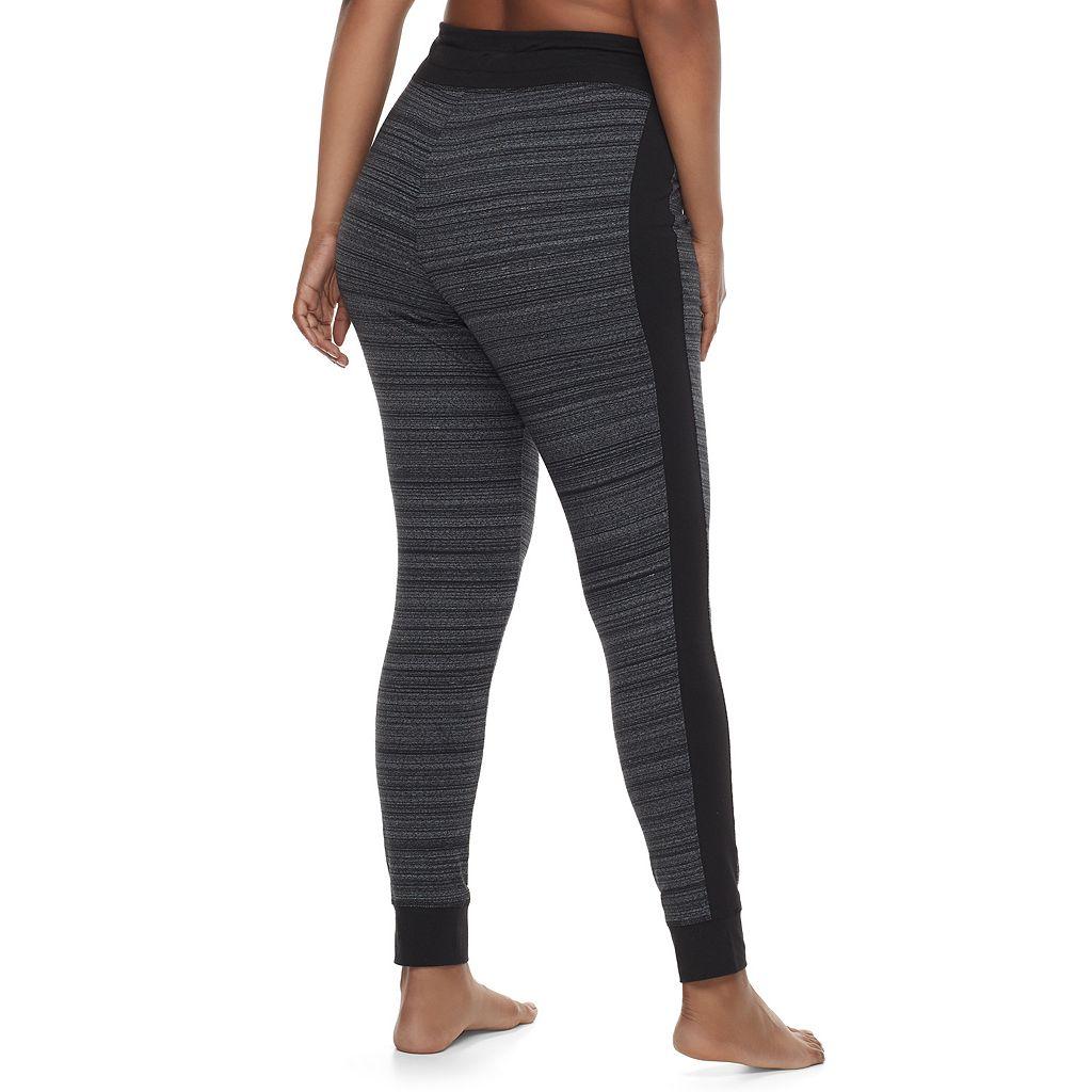Juniors' Plus Size SO® Striped Yoga Leggings