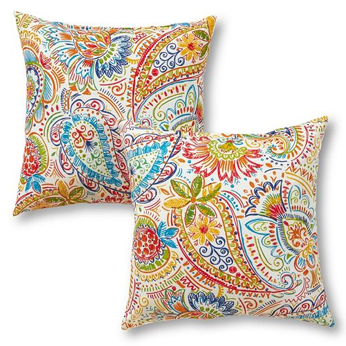 Greendale Home Fashions 2-pack Outdoor Throw Pillow