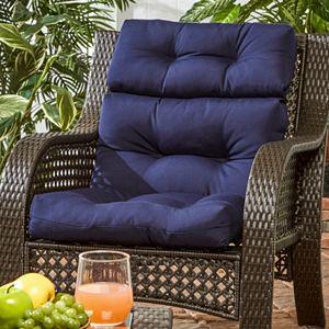 Greendale Home Fashions Outdoor High Back Chair Cushion