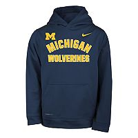 Boys 8-20 Nike Michigan Wolverines Therma-FIT Hoodie