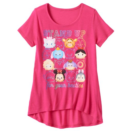 """Disney's Tsum Tsum Dumbo, Tigger & Minnie Mouse Girls 7-16 """"Stand Up For Your Besties"""" Tee"""