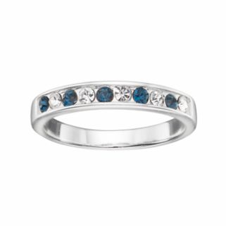 Silver Luxuries Silver Plated Crystal Ring