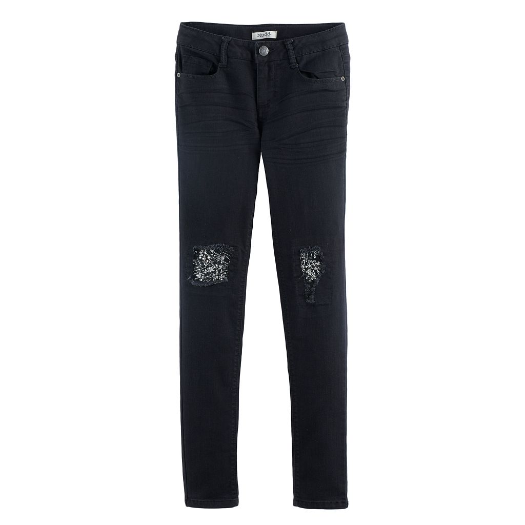 Girls 7-16 & Plus Size Mudd® Embellished Ankle Skinny Jeans