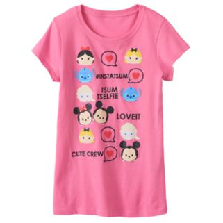 "Disney's Tsum Tsum Alice, Minnie Mouse & Mickey Mouse ""#Instatsum"" Tee"