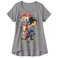 Girls 7-16 DC Comics Super Hero Girls Supergirl, Wonder Woman & Batgirl Graphic Tee