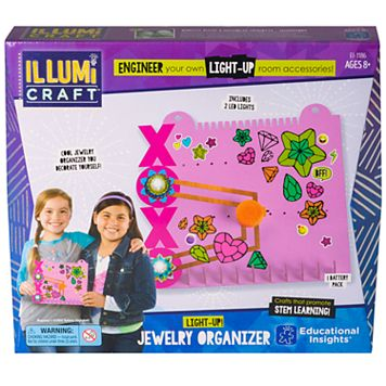 Educational Insights IllumiCraft Light-Up! Jewelry Organizer