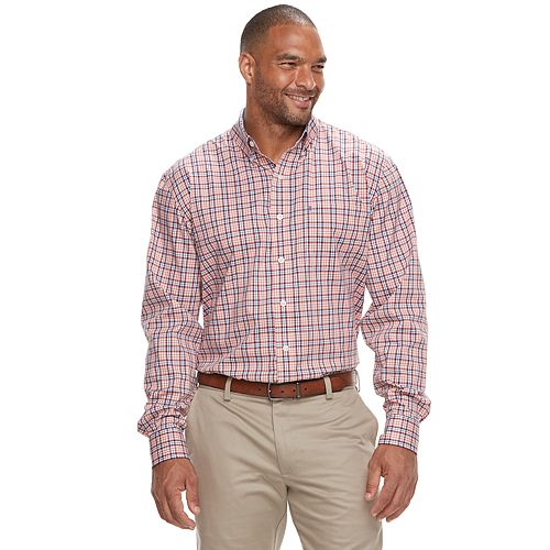 d1acdd9ee Big & Tall IZOD Advantage Sportflex Regular-Fit Stretch Button-Down Shirt