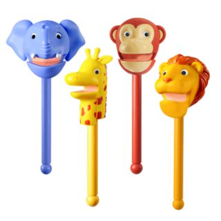 Educational Insights Puppet-on-a-Stick Zoo Crew Set