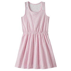 Girls 4-10 Jumping Beans® Slubbed Lace Racerback Dress