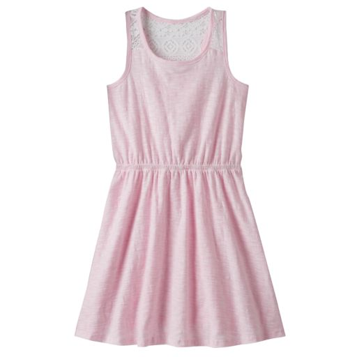 Girls 4-10 Jumping Beans® Slubbed Lace Racerback Dress