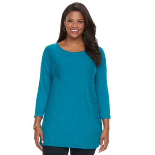 Plus Size Croft & Barrow® Ribbed Tunic