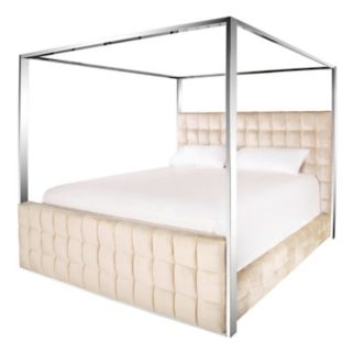 Safavieh Couture Quilted Velvet Canopy Platform Bed