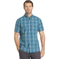 Big & Tall IZOD Advantage Cool FX Regular-Fit Plaid Performance Button-Down Shirt