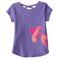 Girls 4-10 Jumping Beans® Braided Cross Back Slubbed Embellished Tee